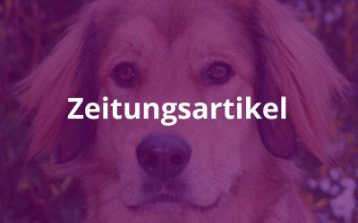 """Tagblatt: """"Goldacher Hunde helfen Blinden"""""""
